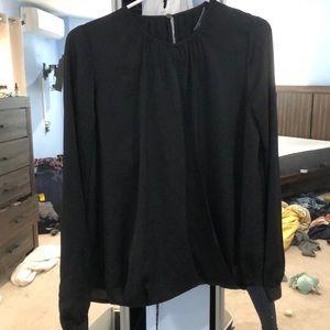Vince wrap work blouse